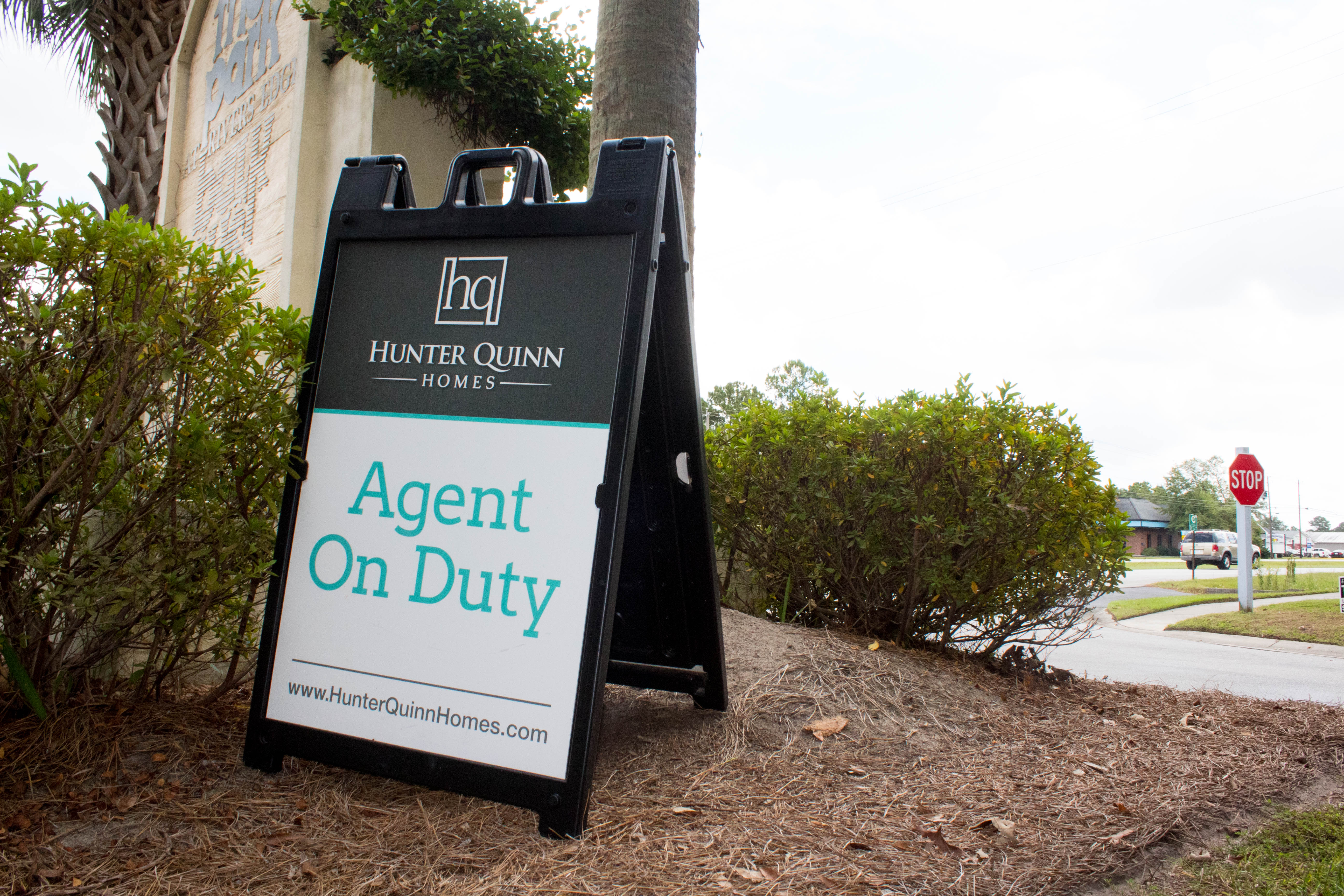 Real Estate Agent on Duty Plastic A-Frame Sign