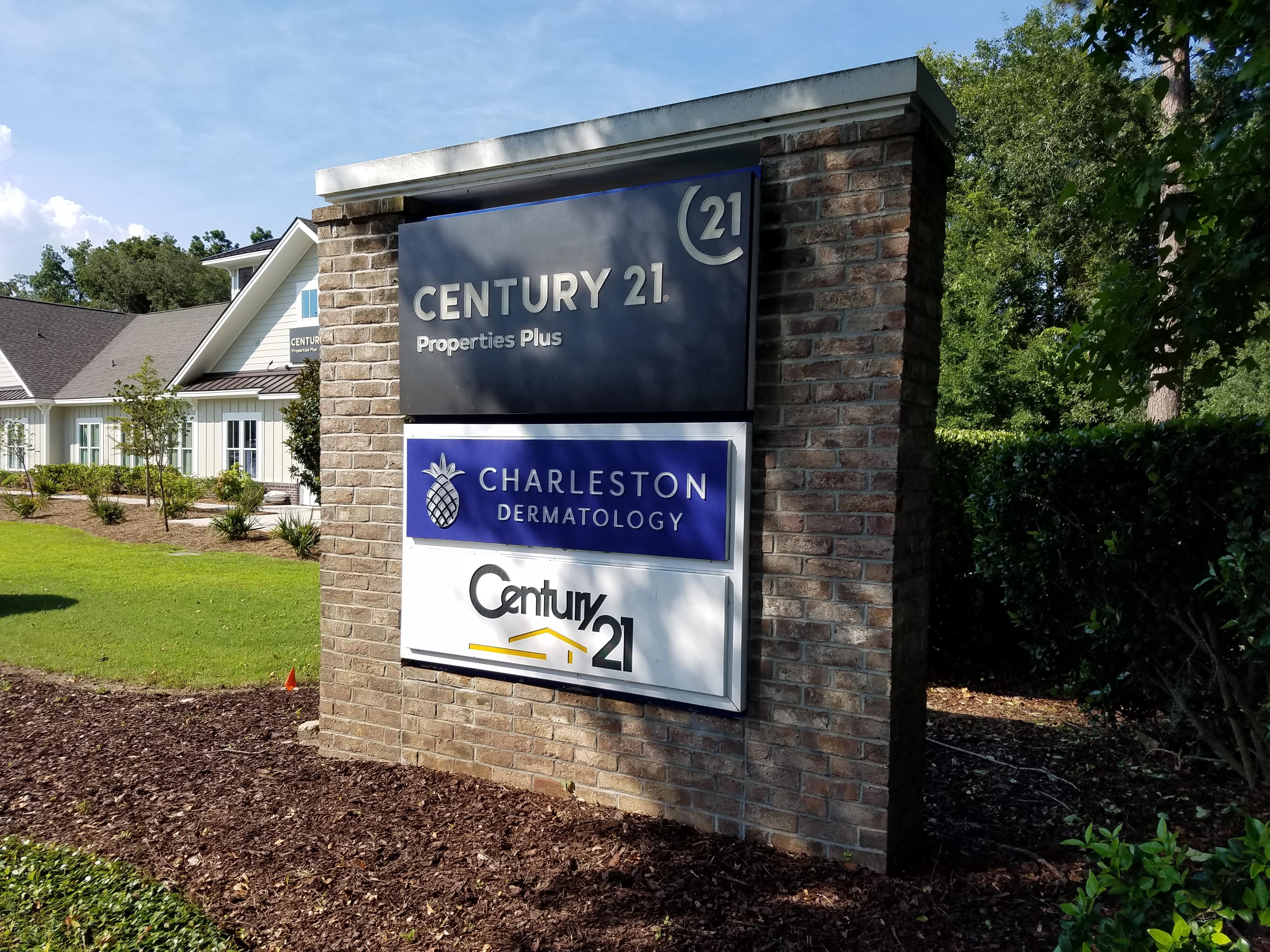 Roadside Monument Sign for Century 21 Office Charleston SC