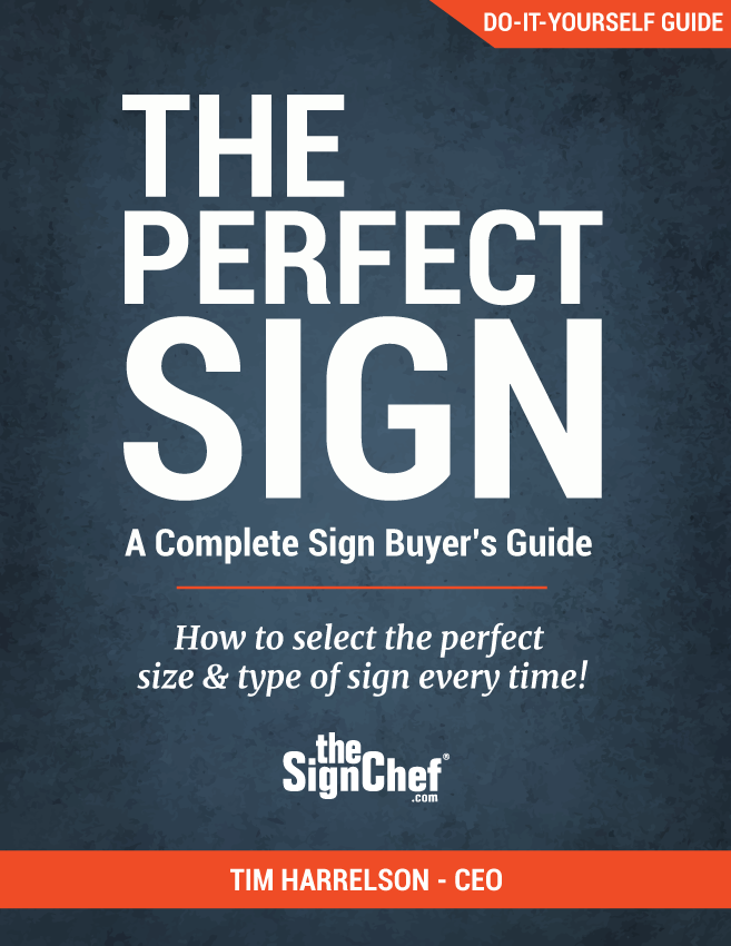 Cover of TheSignChef.com sign-buyer's guide