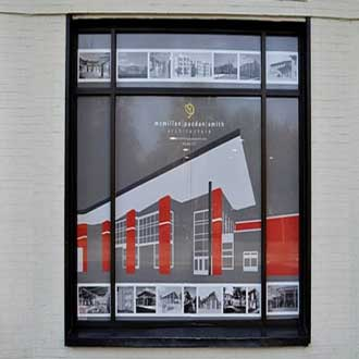 McMillan Pazdan Smith Architectural Firm Perforated Window Sign