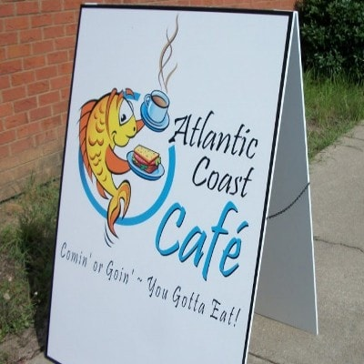 Atlantic Coast Cafe Sidewalk Sign