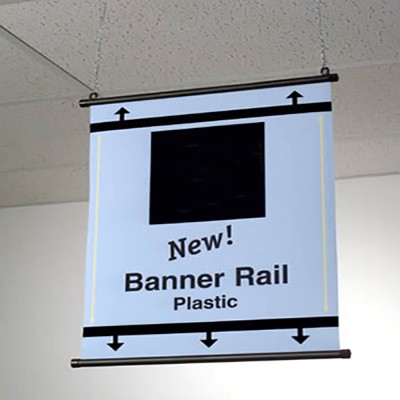 Plastic Banner Rails Available