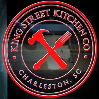 King Street Kitchen Company window lettering