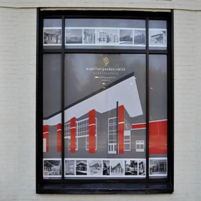 Custom See Through Window Graphics | Vinyl Window Perf | Perforated Window Film