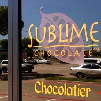 Sublime Chocolate company window vinyl decal