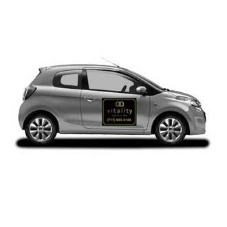 Vitality company magnetic car sign