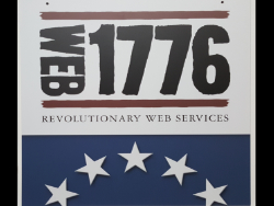 1776 Commercial Web Services Signage Made of Armour-Wood