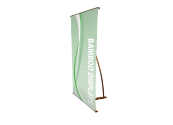 Non-retractable Bamboo Banner for Trade shows, Marketing Events, and Conventions