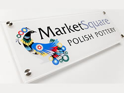 Market Square Acrylic Sign for Doors