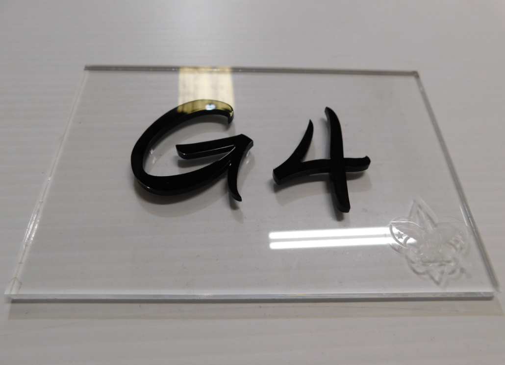 Engraved Acrylic Sign with Plastic Letters