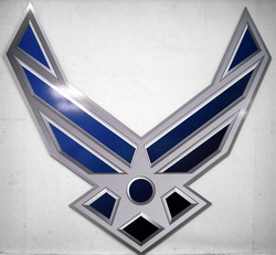 Air Force Custom Shaped Dibond Sign for Military Unit
