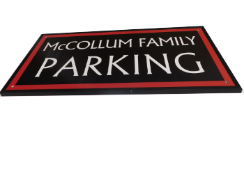 Alumalite Parking Sign for Wall Mounting