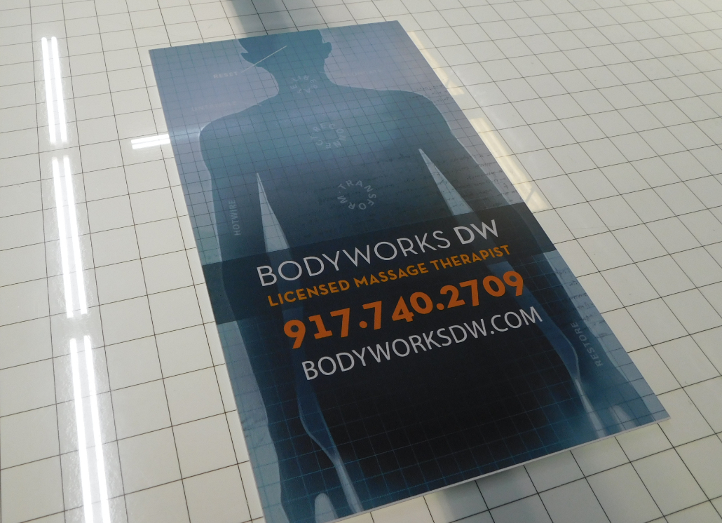 Bodyworks Aluminum Metal Sign with Unique Design
