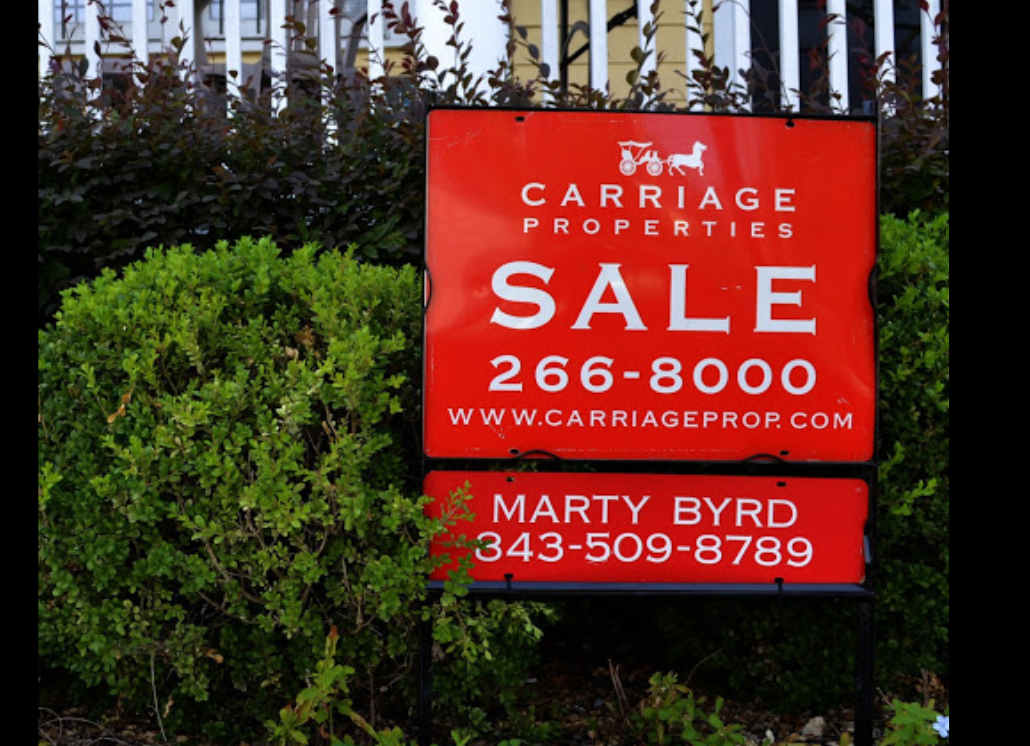 Red Carriage Properties Aluminum Metal Framed Real Estate Sign