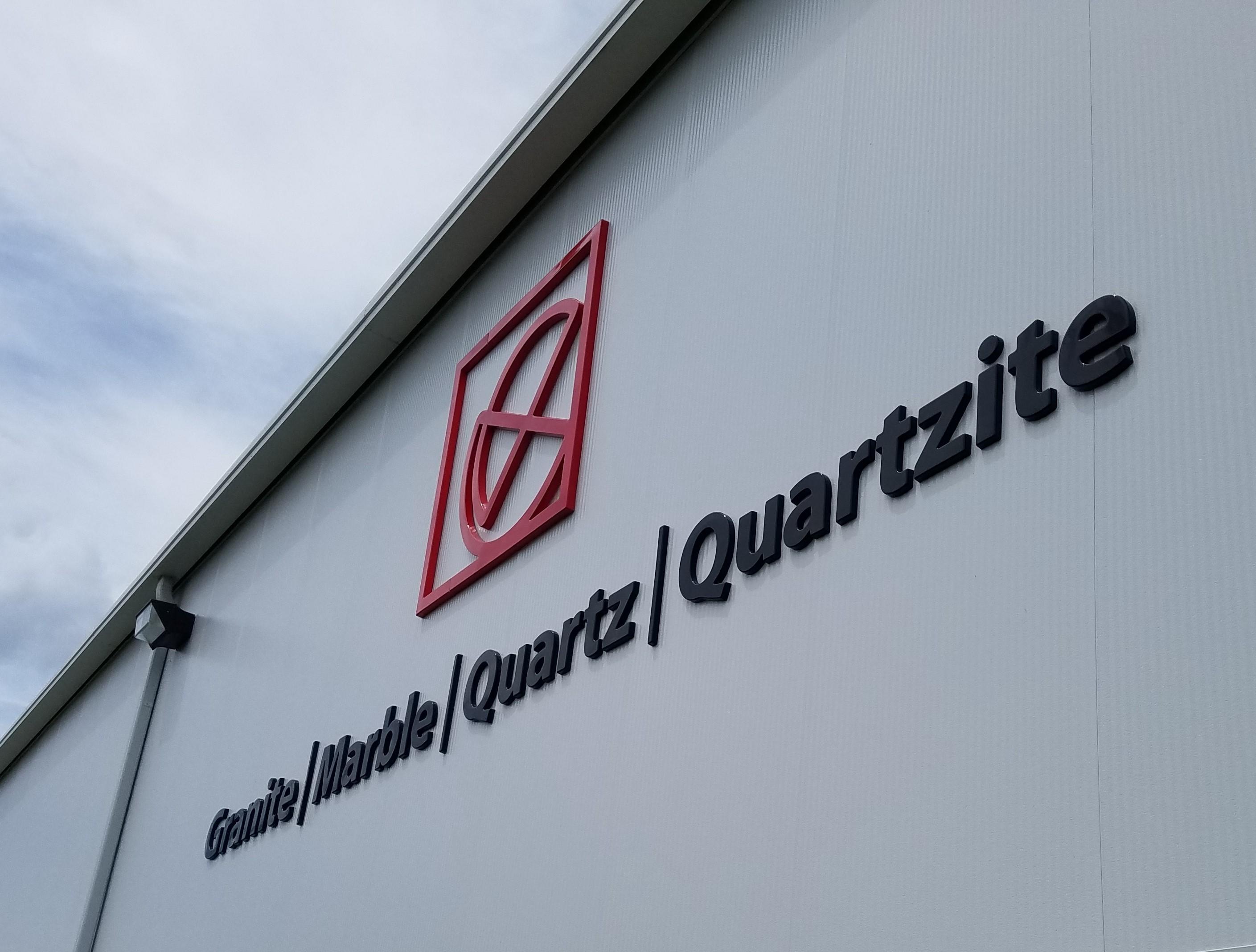 granite formed plastic letters