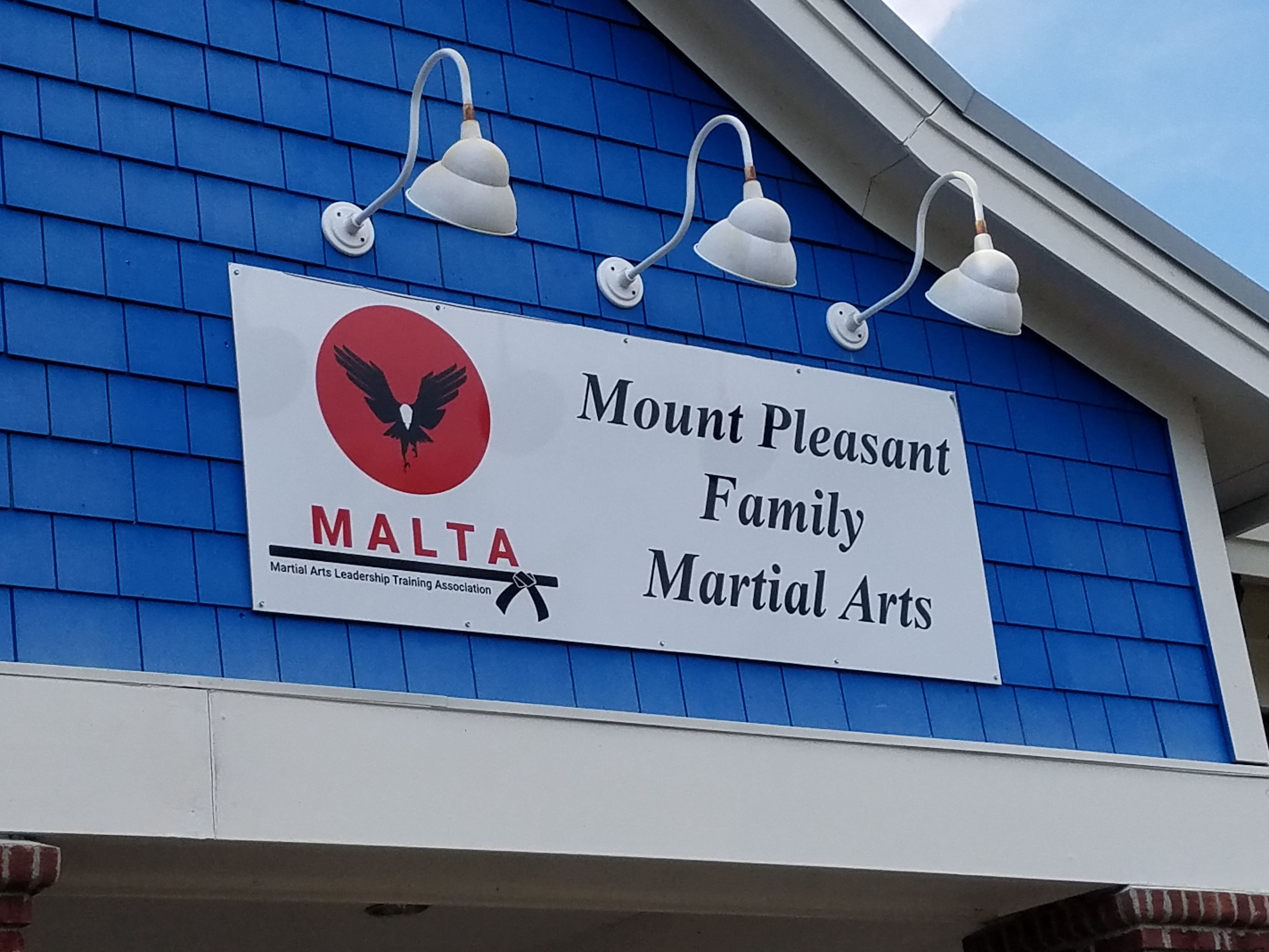 martial arts studio dibond sign