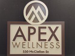Apex Wellness Commercial Sign Made of HDU Sign Material