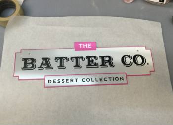 Custom Commercial Aluminum Sign for Batter Company Business Branding