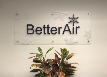 Better Air Plastic Wall Signage for Corporate Office