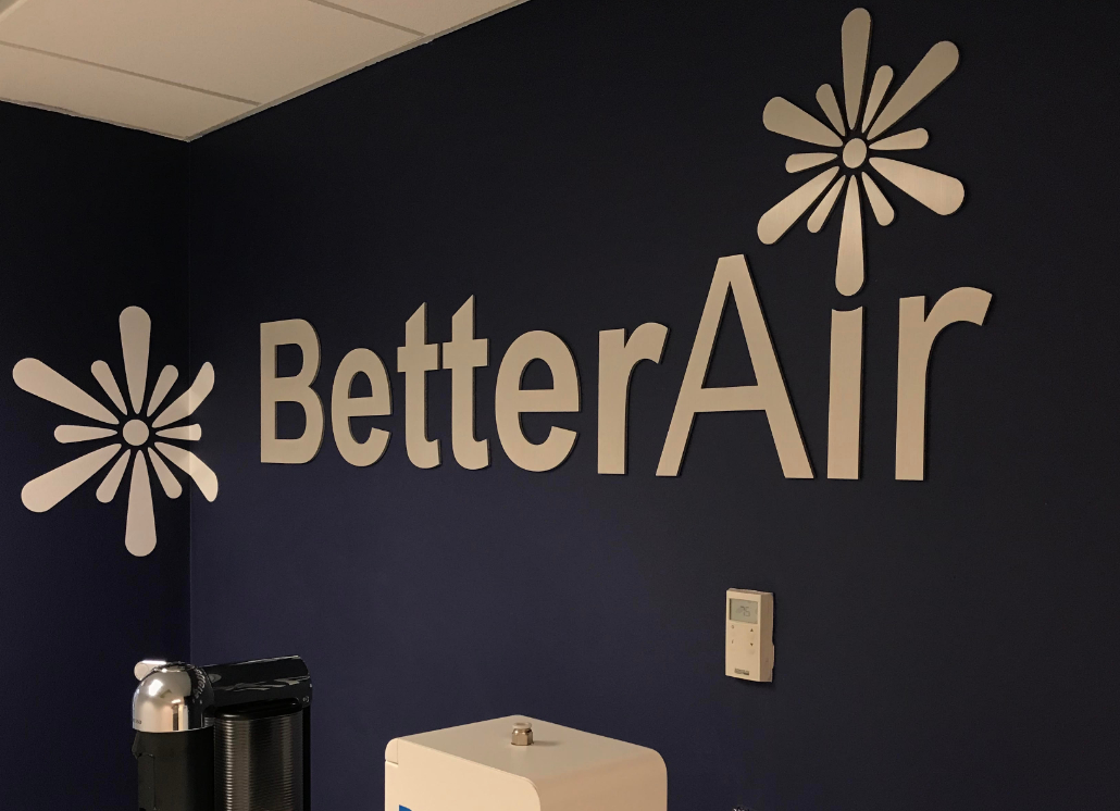 3D Wall Letters and Logos for Better Air Office