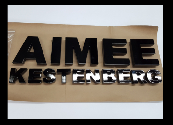 Black Aimee Kestenberg Acrylic Letters for Business Sign or Wall