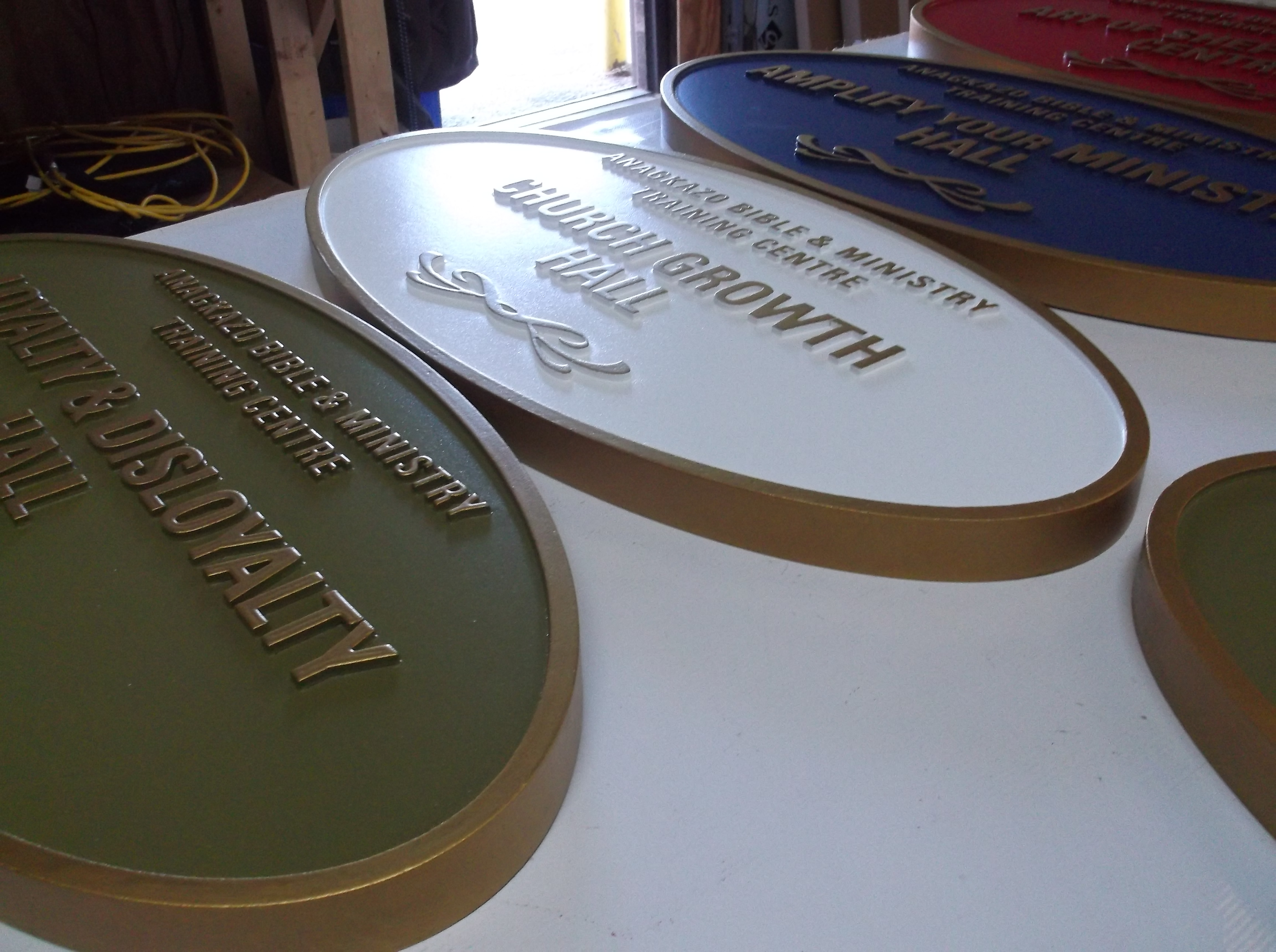 Custom Carved HDU  Dimensional Plaques
