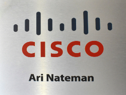 Commercial Cisco Brushed Aluminum Sign