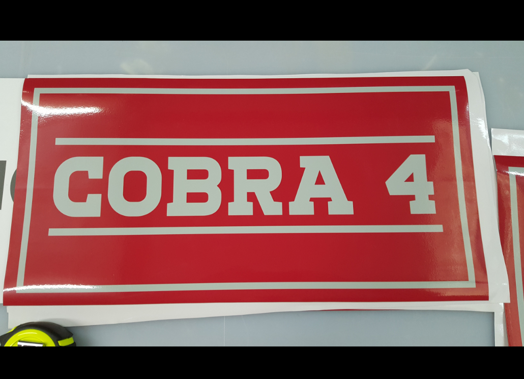 Cobra Magnetic Advertisement for Wall or Vehicle Use