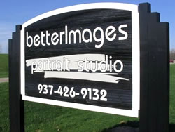 BetterImages' Commercial Business Sandblasted Redwood Sign for Outdoor Use