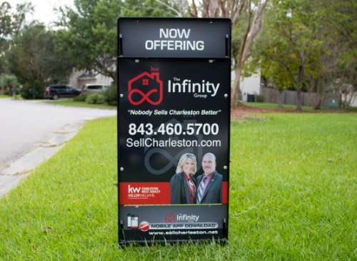 Custom Aluminum Real Estate Yard Sign with Frame