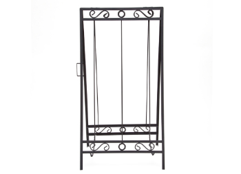 Decorative Sidewalk Frame Painted Black