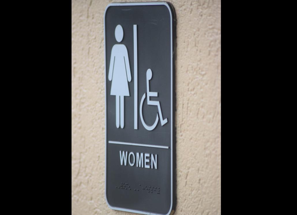 Cast Metal Restroom Signage for Ladies Room