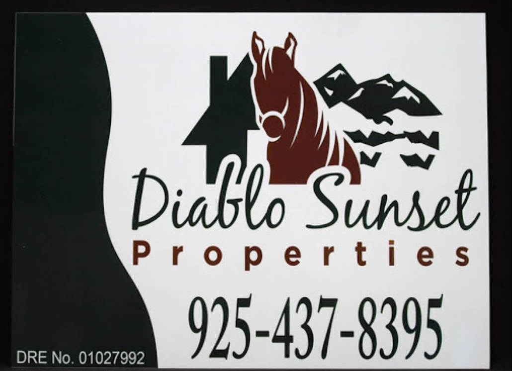 Real Estate Wooden Sign for Diablo Sunset Properties with Custom Sign Print