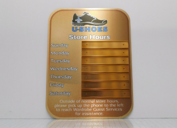 Changeable Copper Dibond Signage Custom Made for U-Shoes