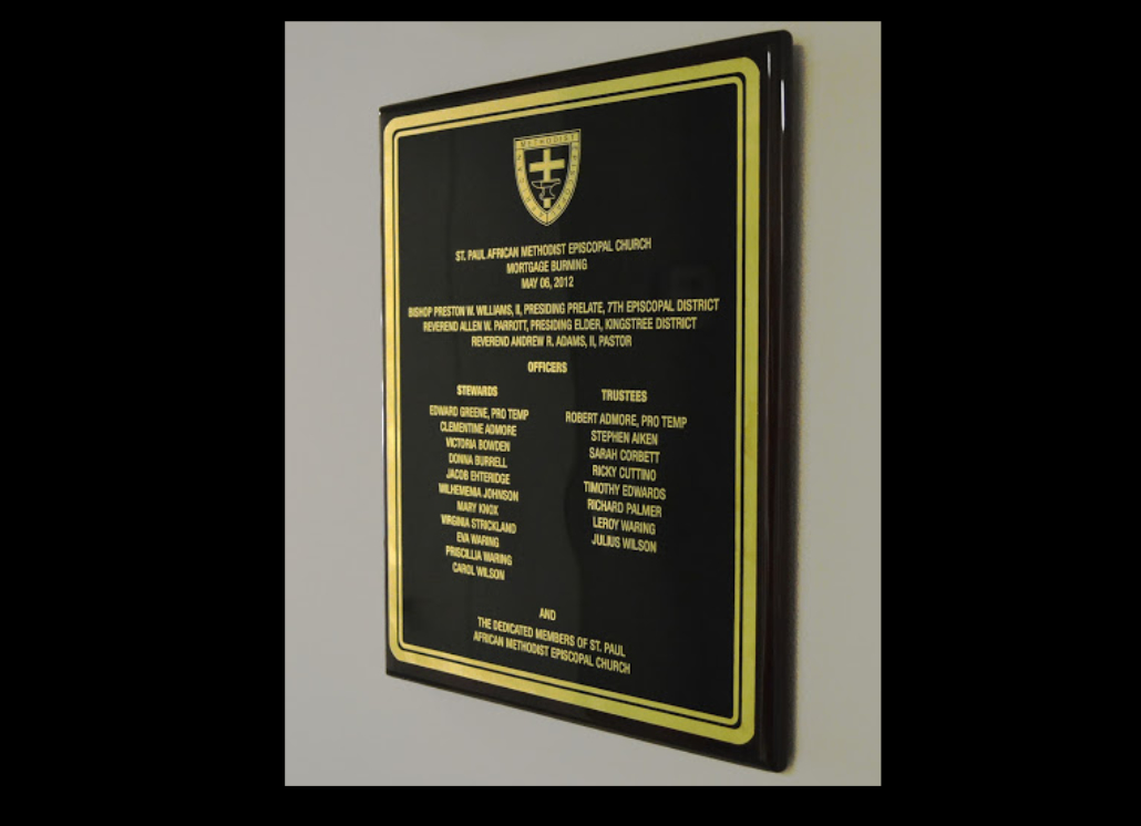 Black Engraved Metal Wall Plaque