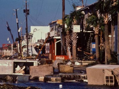 Photo of Mt Pleasant South Carolina after Hurricane Hugo