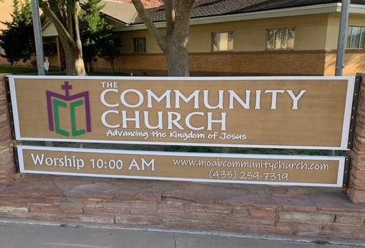 HDU sign for church