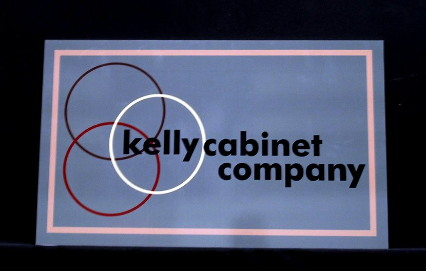 PVC Sign made for Kelly Cabinet Company