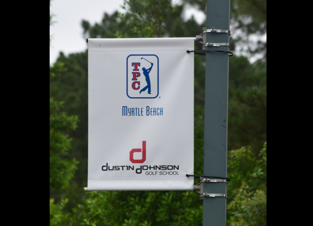 Golf Course Pole Mounted Vinyl Banner for Company Branding