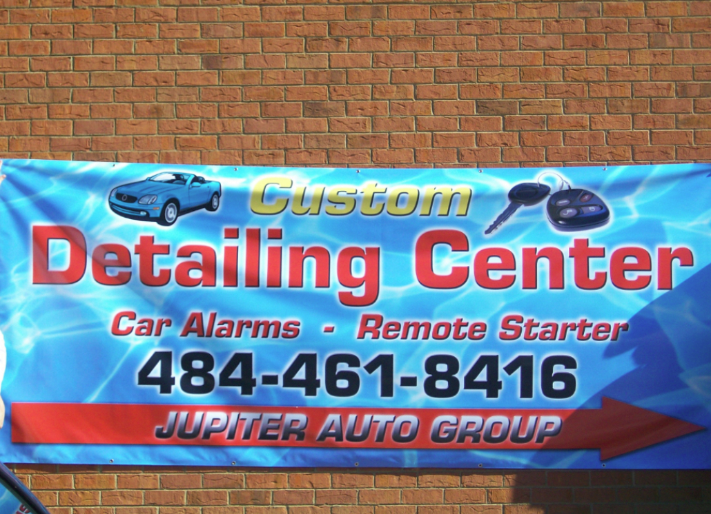 Custom Advertisement on Outdoor Banner Made of Vinyl Material