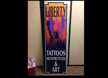 Liberty Tattoo Parlor's Advertisement on Foam Core Ultra