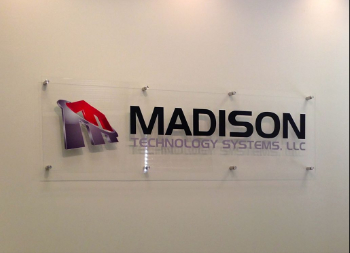 Acrylic Wall Signage for Madision Indoor Office