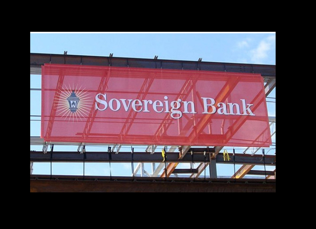 Mesh Sovereign Bank Promotional Banner for Outdoor Sign Use