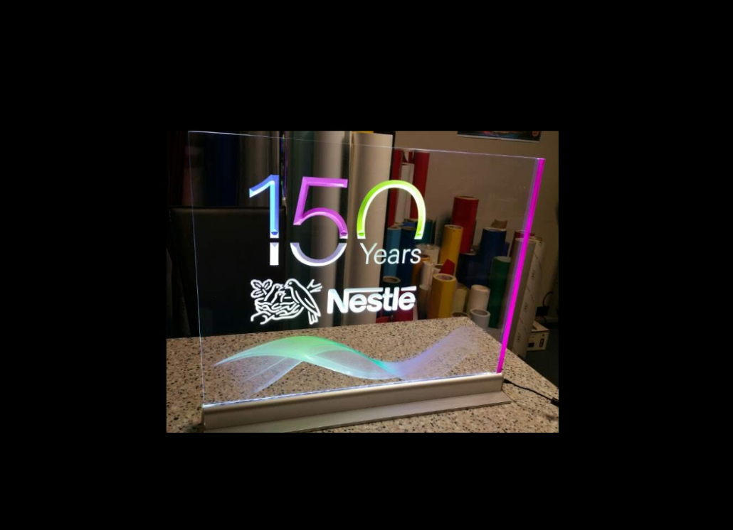 Nestle Engraved Acrylic Sign with Multi-Colored LED Lighting