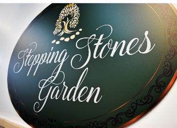 Full Print Design for Stepping Stones Graden on Brushed Copper Dibond Signage
