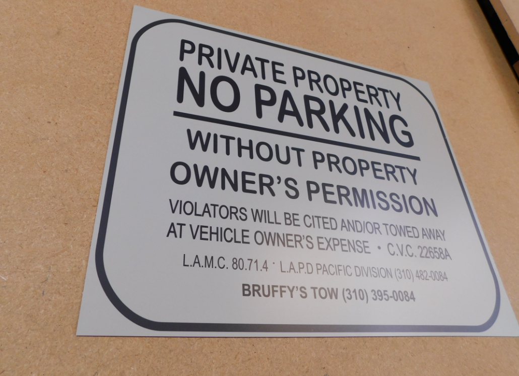 No Parking Aluminum Sign before Shipping
