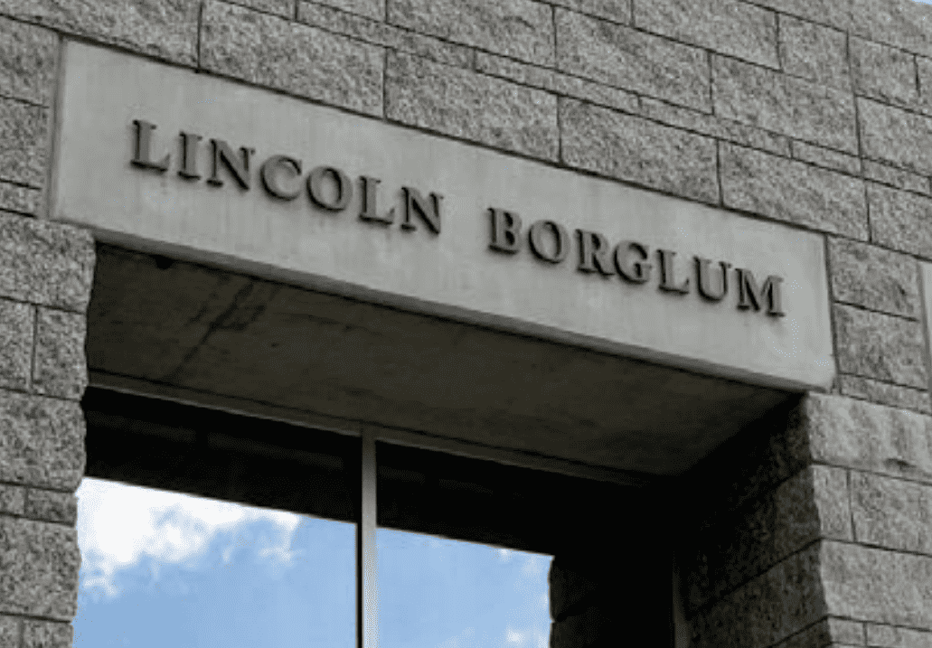 Injection Molded Plastic 3D Letters with text that reads: LINCOLN BORGLUM