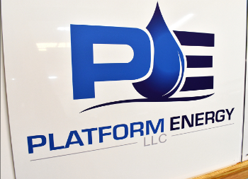 Custom Platform Energy Commercial Outdoor Metal Business Sign