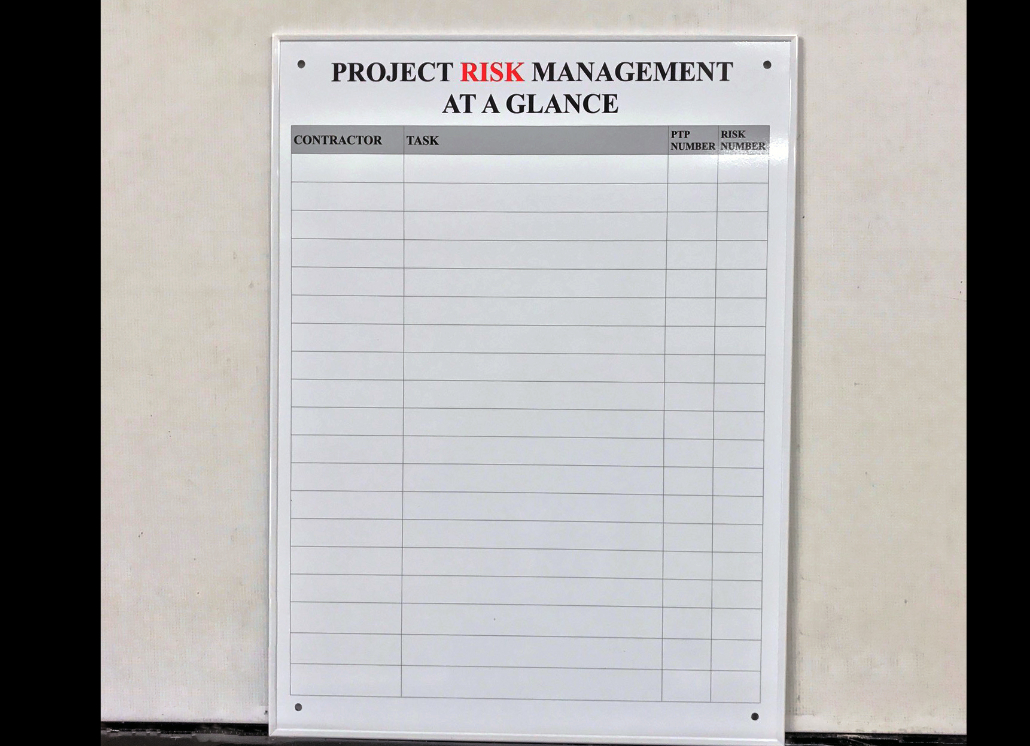Dry Erase Board or Whiteboard  for Project Management