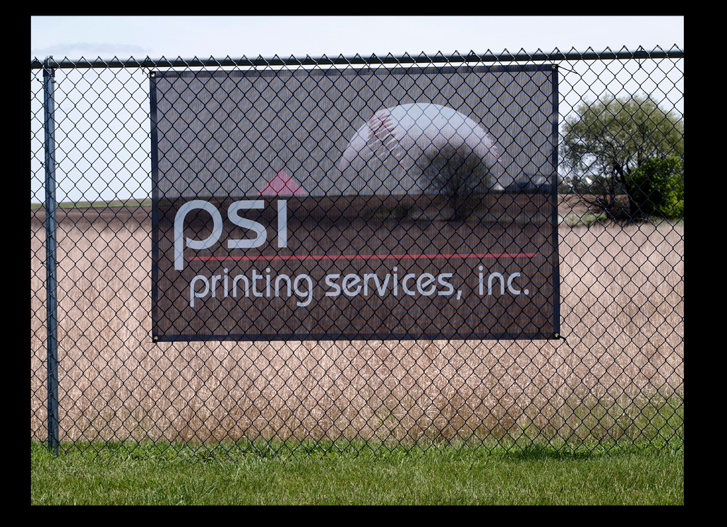 Mesh Banner for PSI with Graphic Design for Marketing